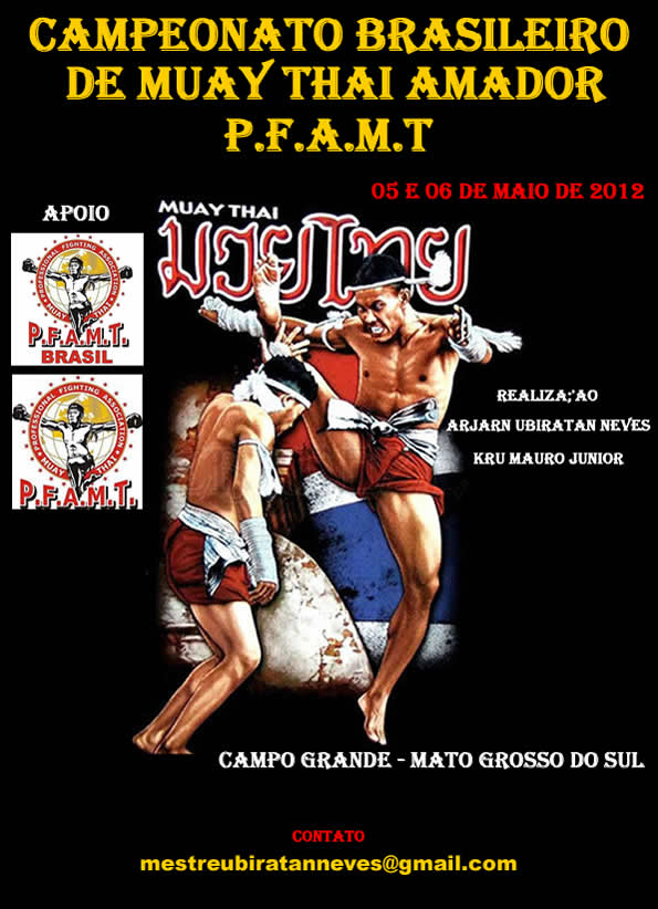 May 5-6, 2012 - Brazil, Muaythai Championship in Brazil by PFAMT